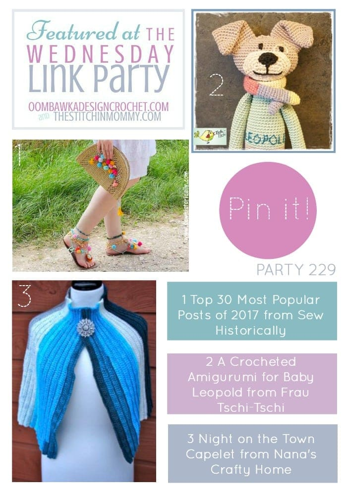 The-Wednesday-Link-Party 229 Features Sew Historically Frau Tschi-Tschi and Nanas Crafty Home