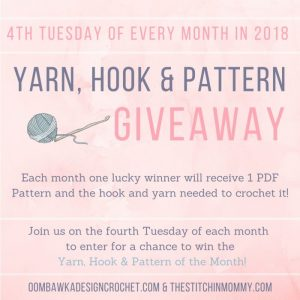 January Yarn, Hook and Pattern Giveaway!
