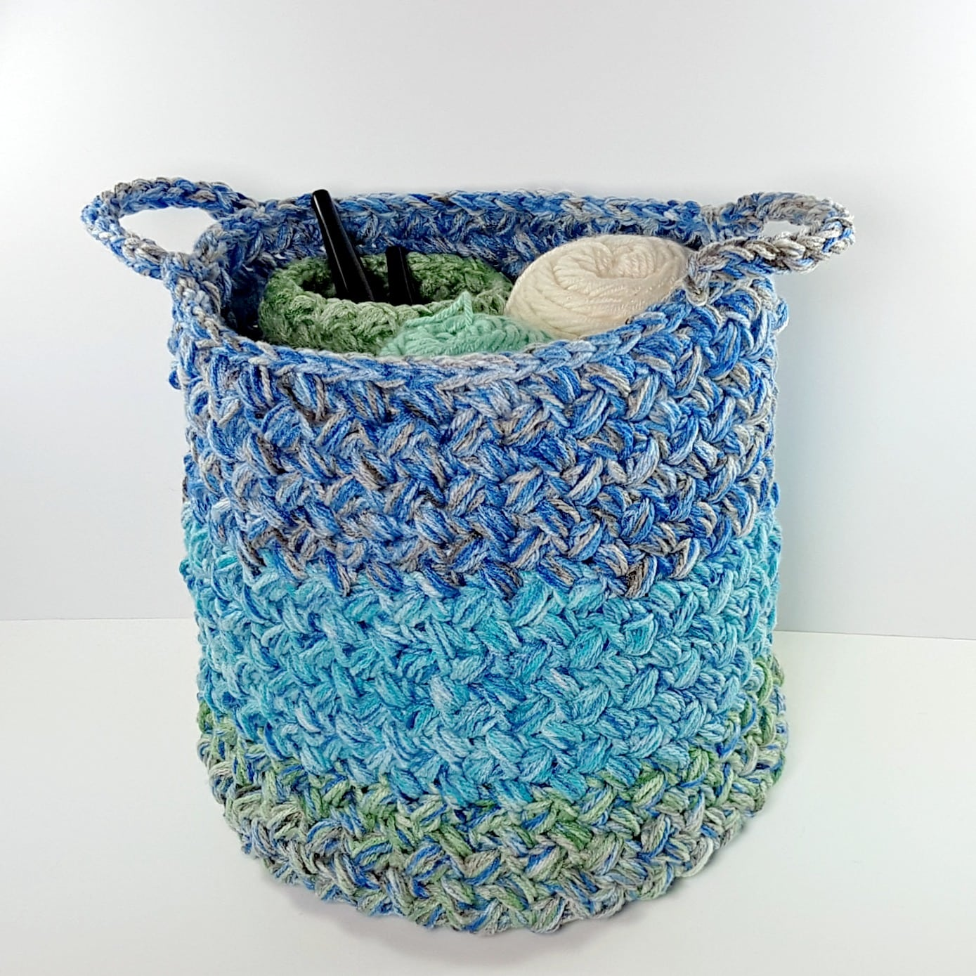 Yarn Stash Basket Free Pattern Oombawka Design Crochet 2018