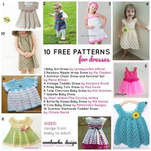 fa291b3ebb3a7 10 Free Patterns for Dresses Oombawka Design Crochet Collection