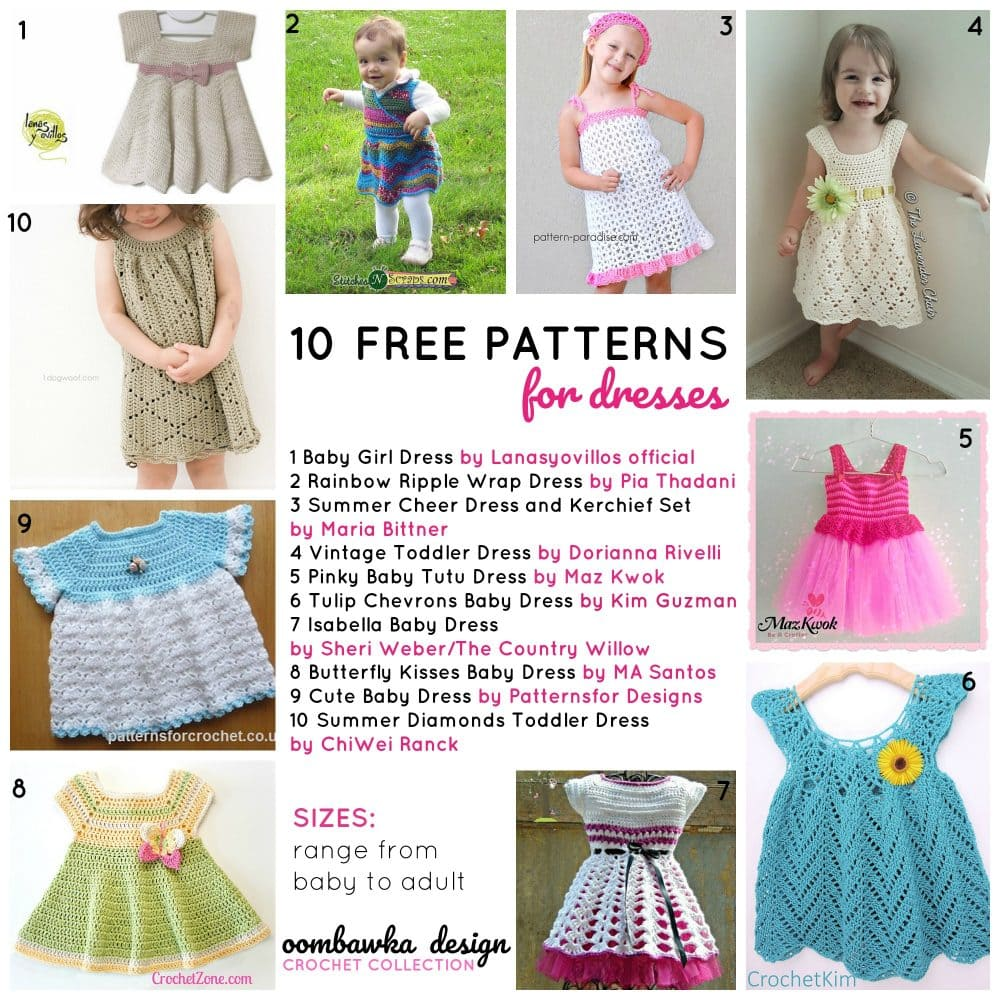 10 Free Patterns for Dresses Oombawka Design Crochet Collection
