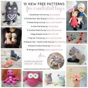 10 NEW Free Crochet Patterns for Toys