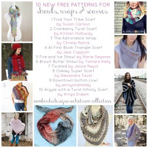 10 NEW Free Patterns for Shawls, Wraps and Scarves