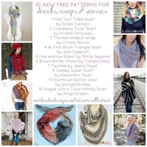 10 New Free Patterns for Shawls Wraps and Scarves an oombawkadesigncrochet.com collection