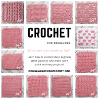 12 Dishcloths 12 Days Beginner Friendly Crochet Stitch Patterns with Tutorials CAL Oombawka Design Crochet