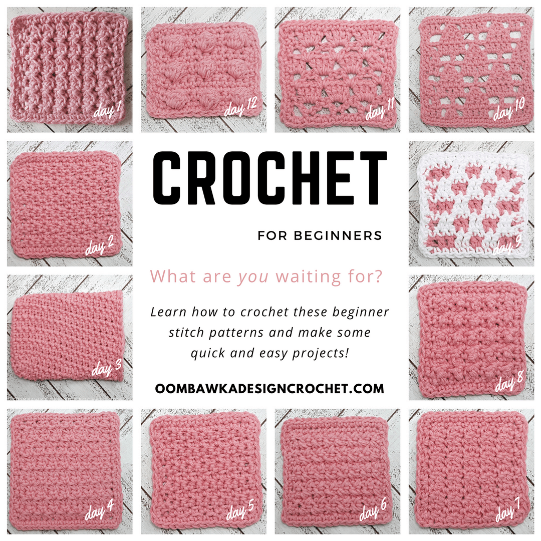 12 Dishcloths 12 Days Beginner Friendly Crochet Stitch Patterns with Tutorials