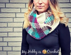 Featured at The Wednesday Link Party 232: Argyle with a Twist Infinity Scarf - Free Crochet Pattern by My Hobby is Crochet