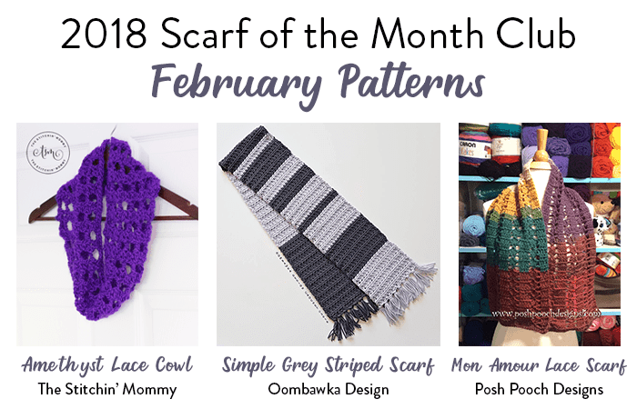 Scarf of the Month Club 2018 February oombawkadesigncrochet