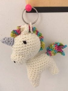 Wednesday Link Party Features: Unicorn Keychain - Howling At the Moon