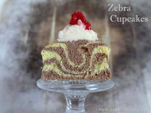 Zebra Cupcakes with Vanilla Frosting - Sew Historically