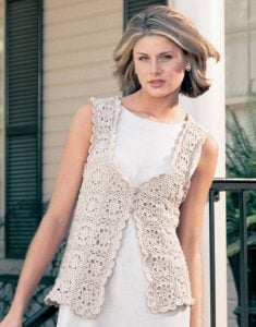 Lovely Linen Vest - Big Book of Crochet - Leisure Arts - Book Review oombawkadesigncrochet
