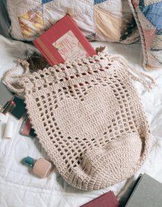 Heartstring Bag - Big Book of Crochet - Leisure Arts - Book Review oombawkadesigncrochet