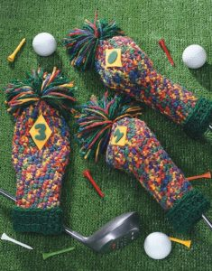 Golf Club Cozies - Big Book of Crochet - Leisure Arts - Book Review oombawkadesigncrochet