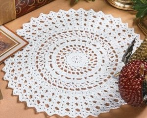 Elegant Frost Doily - Big Book of Crochet - Leisure Arts - Book Review oombawkadesigncrochet