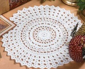 Elegant Frost Doily - Big Book of Crochet - Leisure Arts - Book Review oombawkadesigncrochet