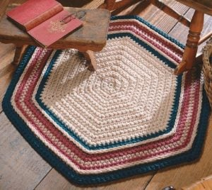 So Easy Rug - Big Book of Crochet - Leisure Arts - Book Review oombawkadesigncrochet