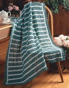 Light and Airy Afghan - Big Book of Crochet - Leisure Arts - Book Review oombawkadesigncrochet