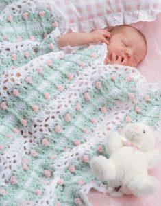 Baby's Bed of Roses Afghan - Big Book of Crochet - Leisure Arts - Book Review oombawkadesigncrochet