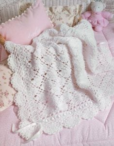 Baby's Fancy Afghan - Big Book of Crochet - Leisure Arts - Book Review oombawkadesigncrochet