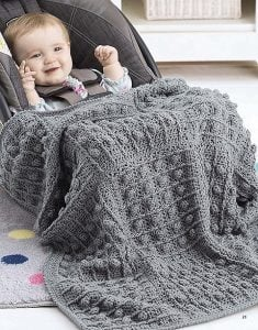 Squares - On The Go Baby Blankets - Leisure Arts - Book Review by Oombawka Design Crochet