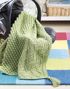 Popcorn and Lattice - On The Go Baby Blankets - Leisure Arts - Book Review by Oombawka Design Crochet