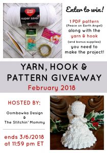 February Yarn Hook and Pattern Giveaway Oombawka Design The Stitchin Mommy Ends March 6 2018 1159pm ET