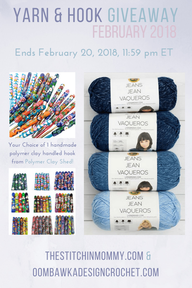 Welcome to our monthly Yarn and Hook Giveaway! For our February Yarn and Hook Giveaway we have a special treat for you :) I think you are really going to totally love it!