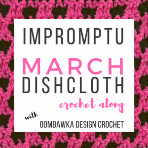 Dishcloth Crochet Along – CAL – New Stitch A Day CAL