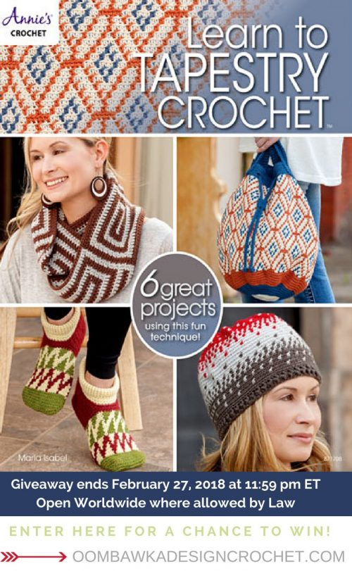 a013aba99da Learn to Tapestry Crochet Giveaway Ends Feb 27 2018 oombawkadesigncrochet