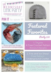 Wednesday Link Party 231 we feature submissions from Noowul Designs, Underground Crafter and CAAB Crochet