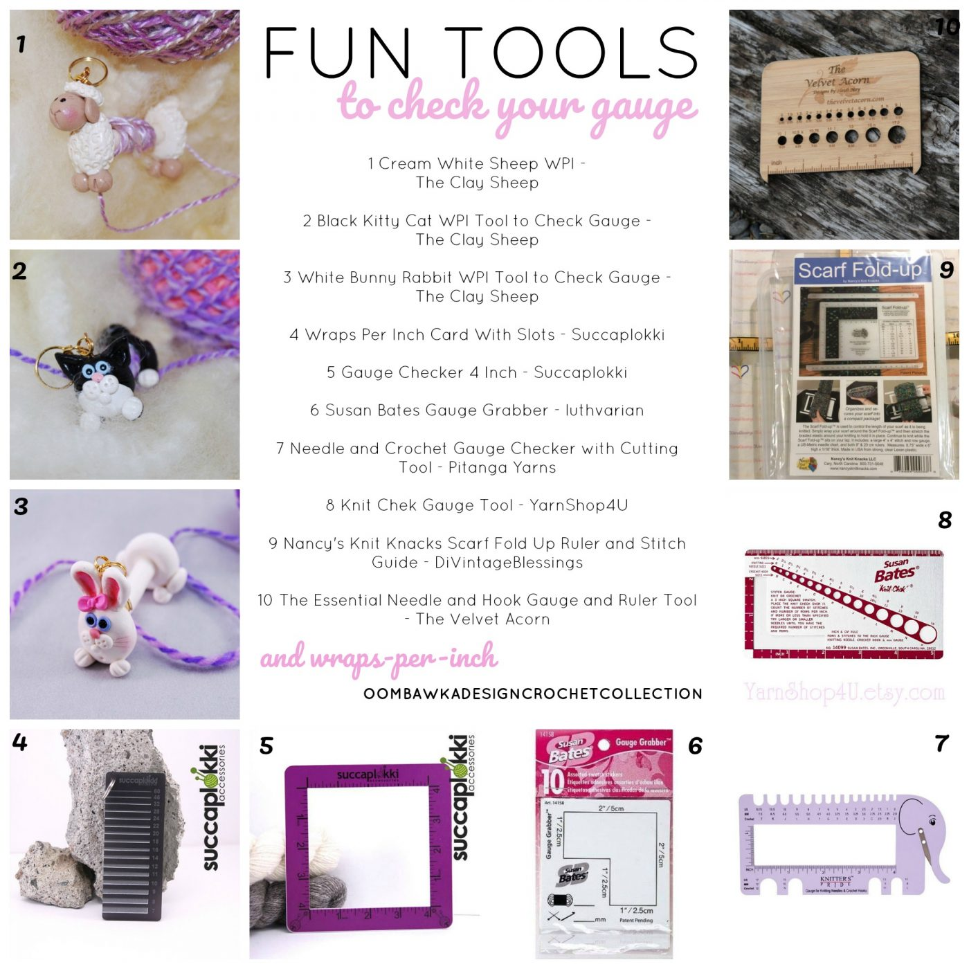 10 Fun Tools to Check your Crochet Gauge and WPI