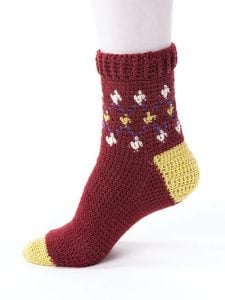 Diamond Fair Isle - New Methods for Crochet Socks - Rohn Strong - Annie's Craft Store - Review by Oombawka Design