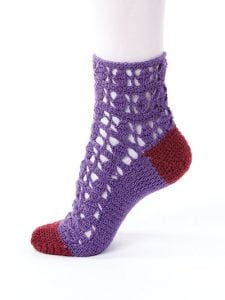 Diamond Lace - New Methods for Crochet Socks - Rohn Strong - Annie's Craft Store - Review by Oombawka Design