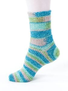Tunisian Stripes - New Methods for Crochet Socks - Rohn Strong - Annie's Craft Store - Review by Oombawka Design