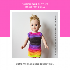 18 Inch Doll Clothes Dress For Dolly oombawkadesigncrochet