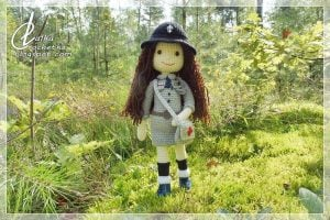 Wednesday Link Party 236 Features Doll Girl Scout Zuza - Lalka Crochetka