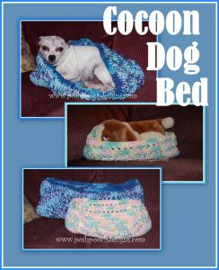 Featured at the Wednesday Link Party: Cocoon Dog Bed Crochet Pattern - Posh Pooch Designs
