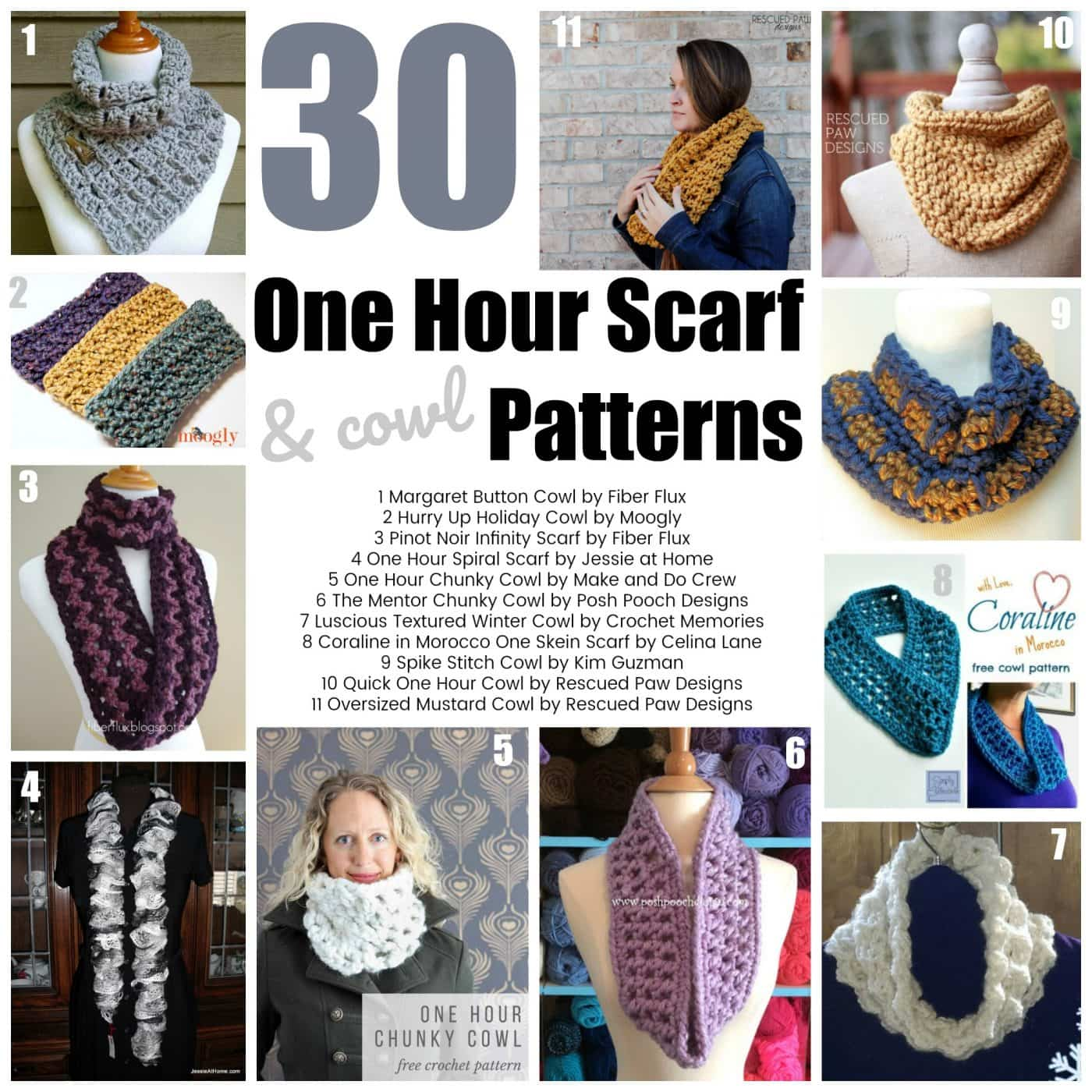 Quick Crochet Projects 30 One Hour Scarf Patterns Oombawka Design