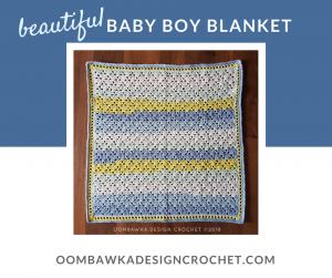 Beautiful Baby Boy Blanket Free Baby Crochet Afghan Pattern Oombawka Design Crochet FB