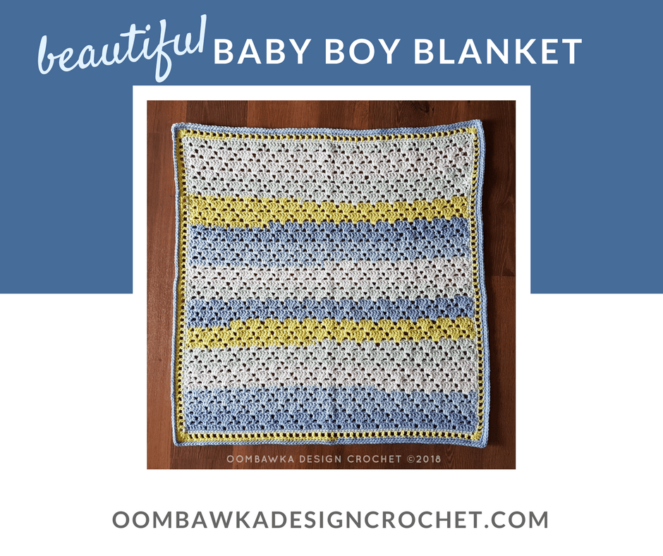 Beautiful Baby Boy Blanket Free Baby Crochet Afghan Pattern Oombawka Design Crochet FB