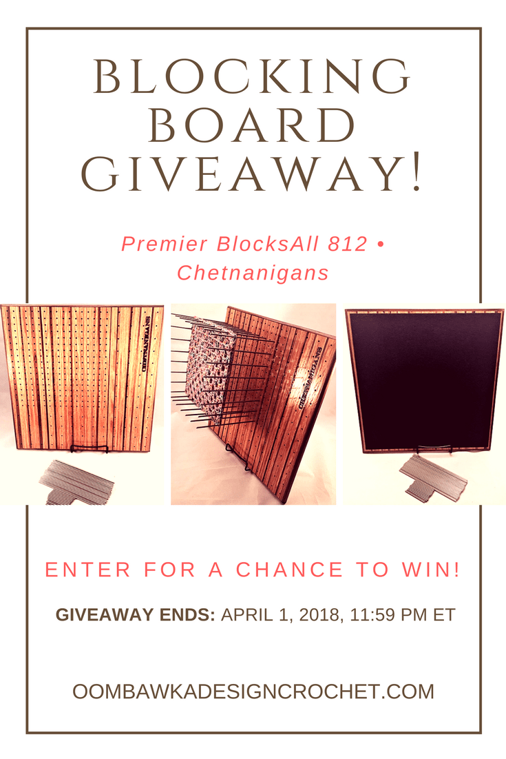 BlocksAll 812 Giveaway Ends April 1 2018 Oombawka Design Crochet pin