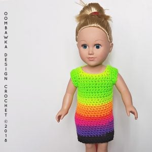 Green Dress for Dolly 18 Inch Doll Clothes