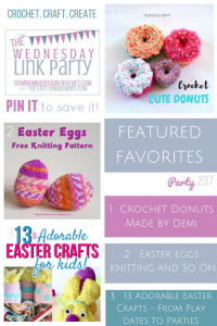 Featured at The Wednesday Link Party 237: Made by Demi, Knitting and So On and From Playdates to Parties!