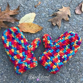 Friday Mittens Free Pattern Blackstone Designs for Featured Charity of February at Oombawka Design Crochet