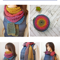 Scarfofthemonthclub2018 March Rustic Rainbow Scarf Oombawka Design Pinterest