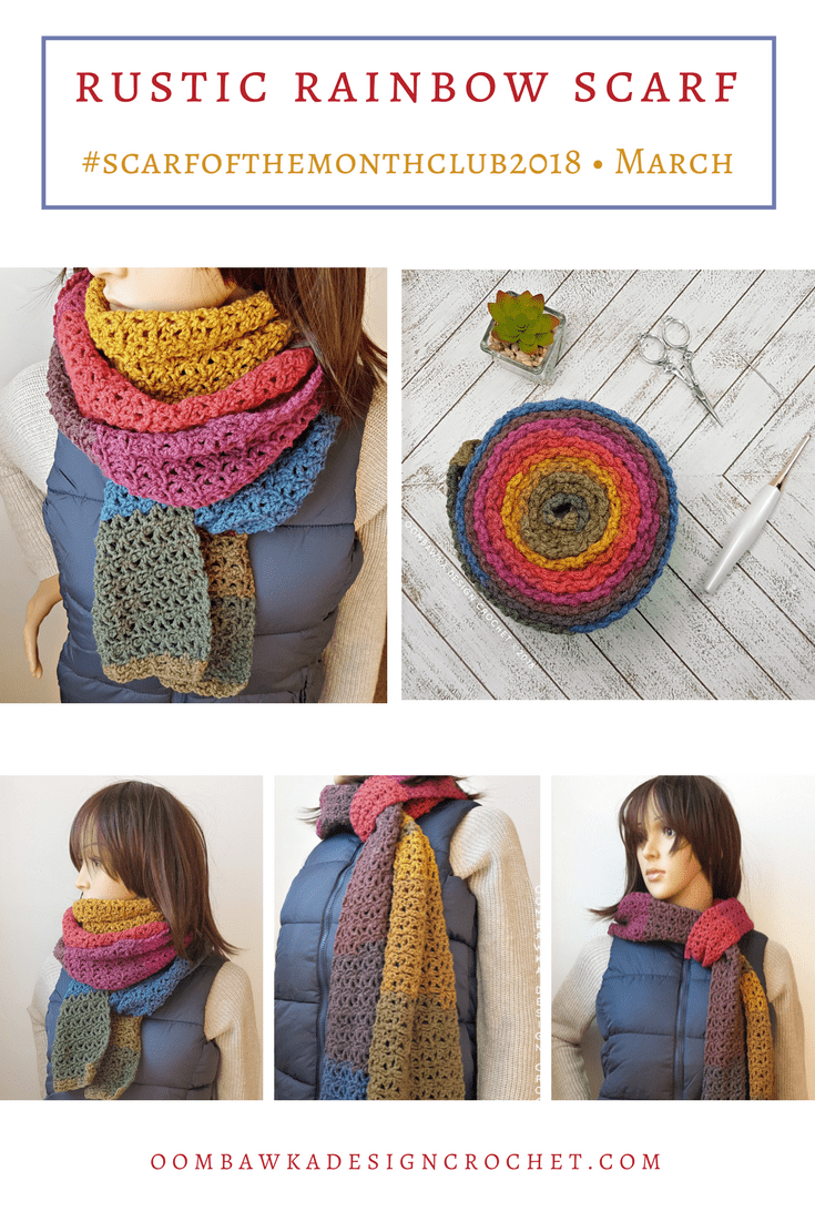 March Scarf of the Month Club 2018 Patterns are Here!