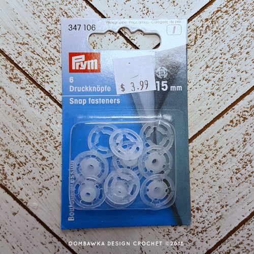 Snap Fasteners I used for Dolly Coat