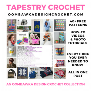 The BIG Tapestry Crochet Post OombawkaDesignCrochet SM