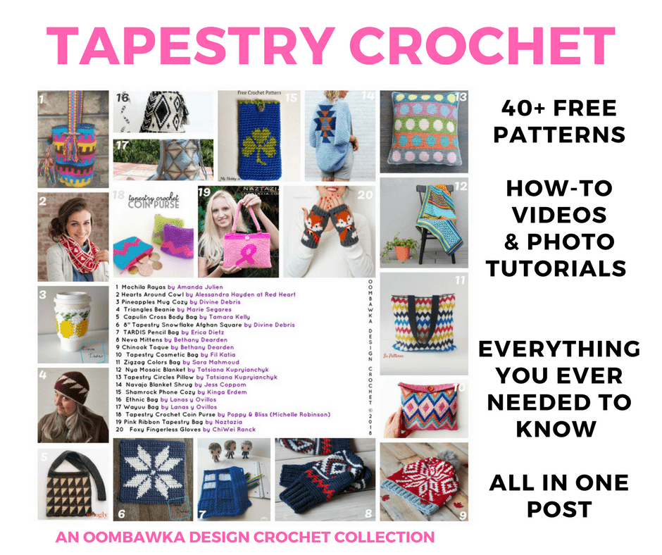The BIG Tapestry Crochet Post OombawkaDesignCrochet