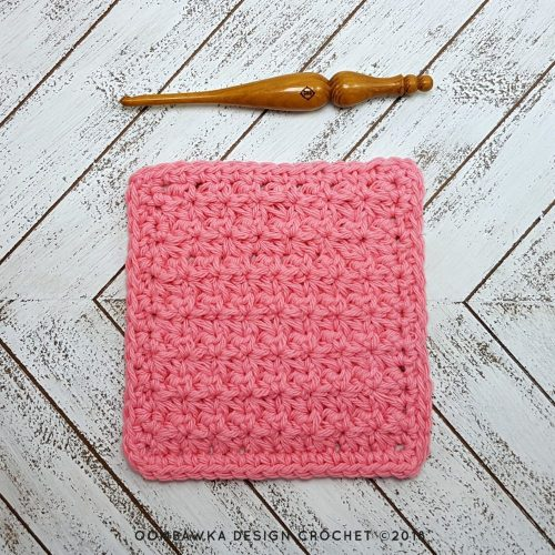 Trinity Stitch Dish Cloth Free Pattern Oombawka Design Crochet